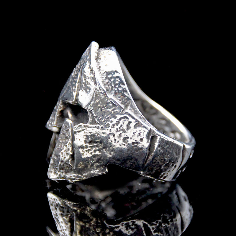 The Spartan Skull Ring silver 3