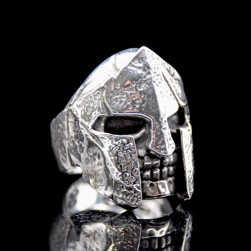The Spartan Skull Ring silver