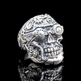 The Steampunk Skull Ring silver