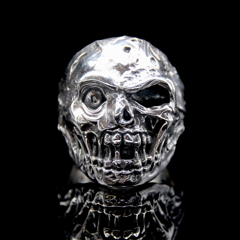 The Zombie Skull Ring silver 3