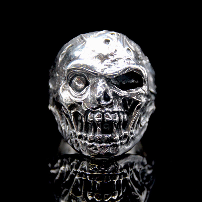 The Zombie Skull Ring silver 2