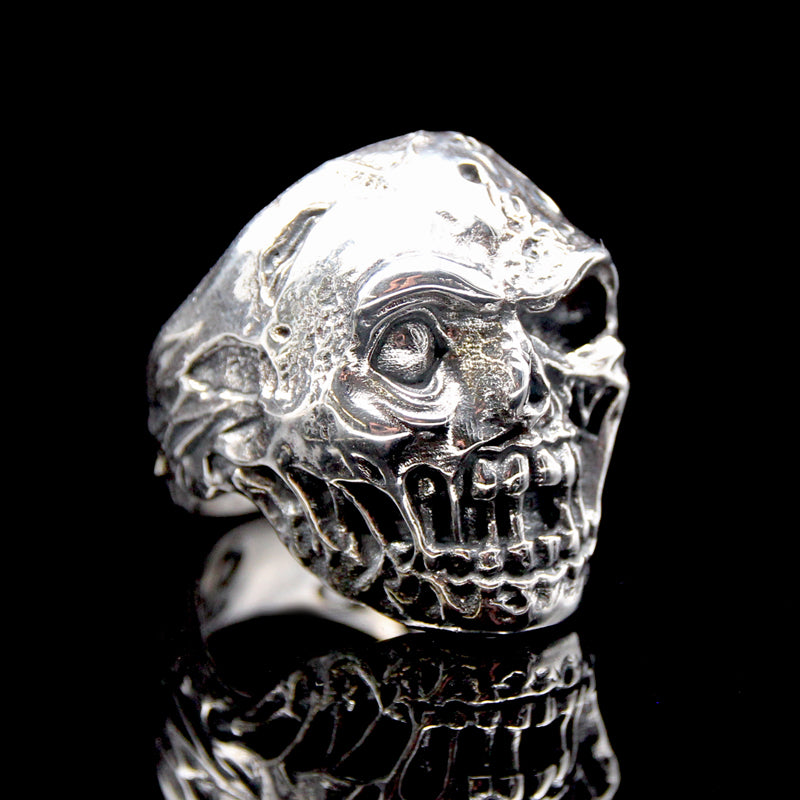 The Zombie Skull Ring silver