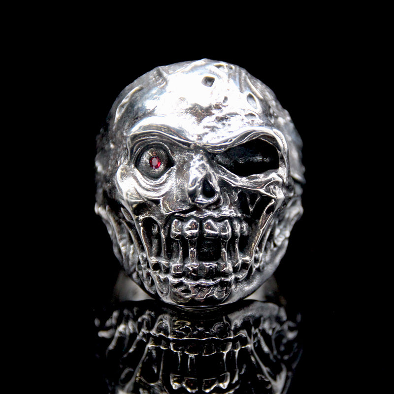 The Zombie Skull Ring silver 4