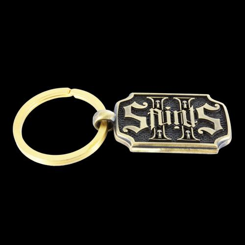 2 Saints Yellow Bronze Key Chain