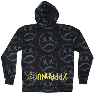 Black Smoke Unhappy Hoodie