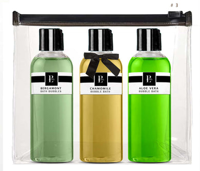 SPA BUBBLE BATH COLLECTION  SET # 3 BERGAMOT - CHAMOMILE - ALOE VERA