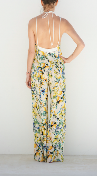 LANA LONG WHITE LEMON PRINT