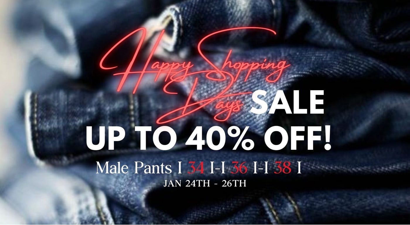 Happy Shopping Days! Male Pants - S 34,36,38