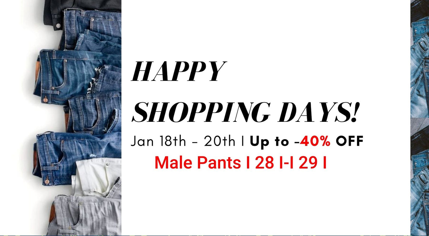 Happy Shopping Days! Male Pants - S 28,29