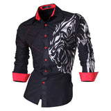 New Arrival Long Sleeve Casual Spring Autumn Features Slim Fit Male Shirts