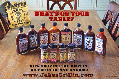 Jake's Grillin Coffee Rubs & Sauces
