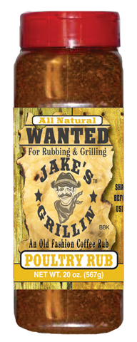 Jake's Grillin' Original Poultry Rub, Grande 20oz Bottle