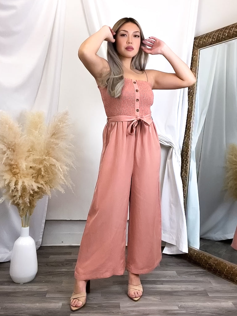 Cora Blush Jumpsuit