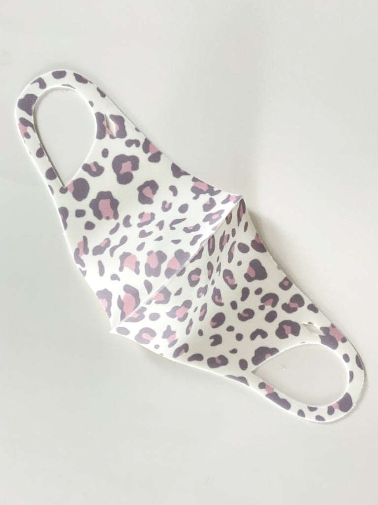 Leopard Antibacterial Face Mask - Adult
