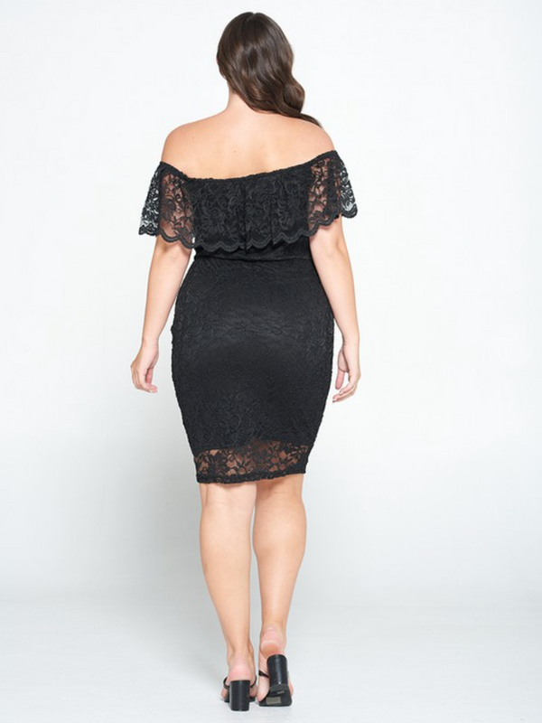 Lora Lace Plus Dress