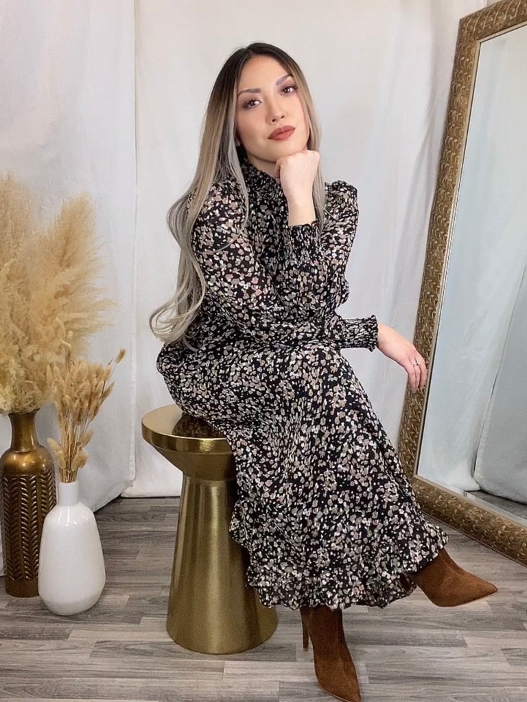 Esme Dusty Floral Dress