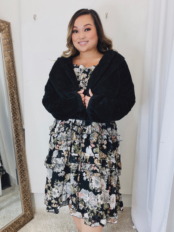 Riviera Floral Plus Size Dress