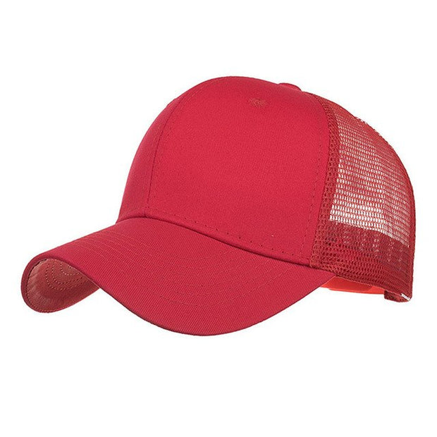 34d952e03b182 Newly Design Women Men Boys Girls Breathable Mesh Baseball Caps Summer  Solid Sun Hat 80612