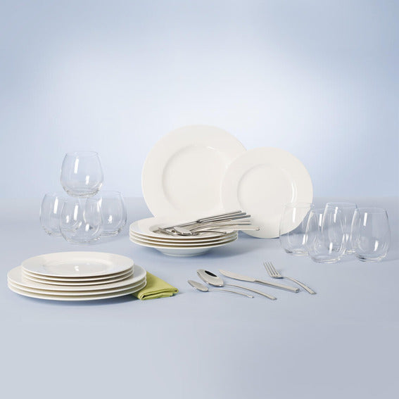 Villeroy & Boch Wonderful World White Dinnerware - Set of 36