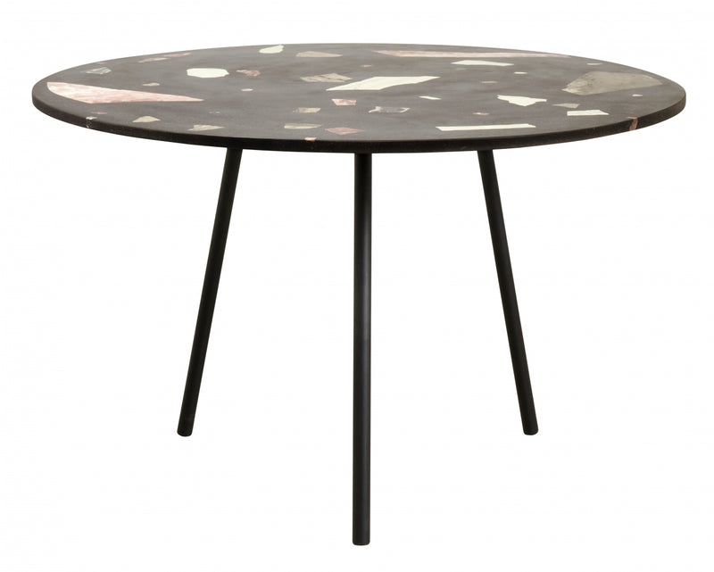 Terrazzo Dining Table , Black - SAK Home