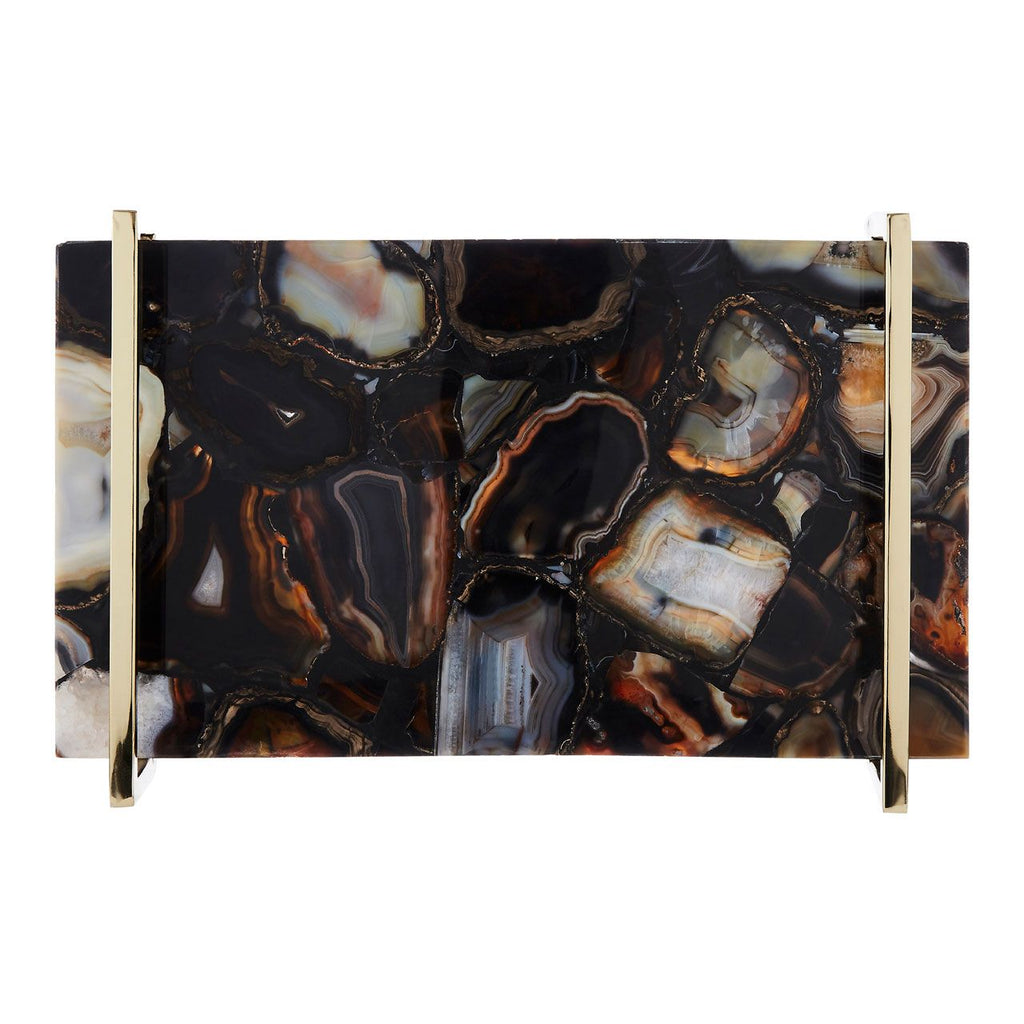 Bowerbird Black Agate Large Tray - SAK Home
