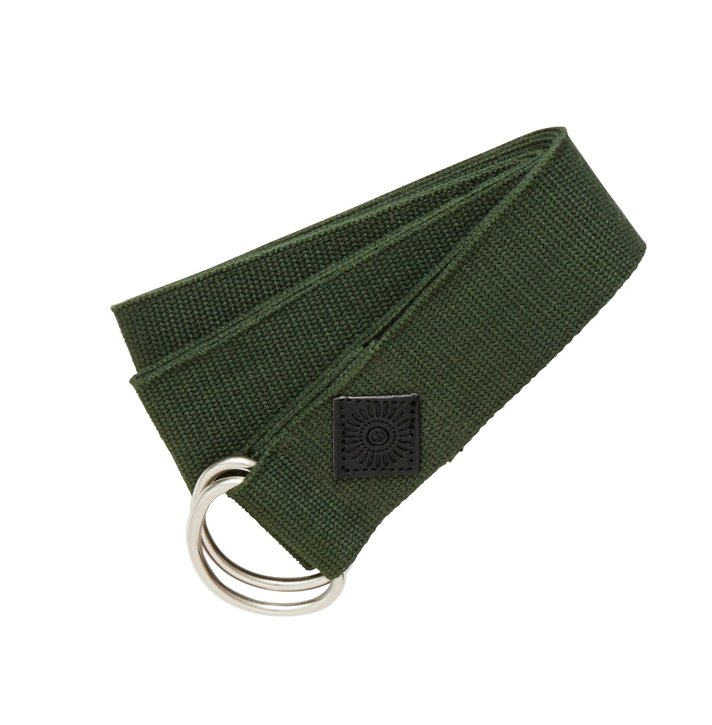 Yoga Cotton Belt, Dark Green
