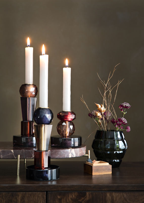 Ellie Candle Holder - Set of 2 Mixed Colours