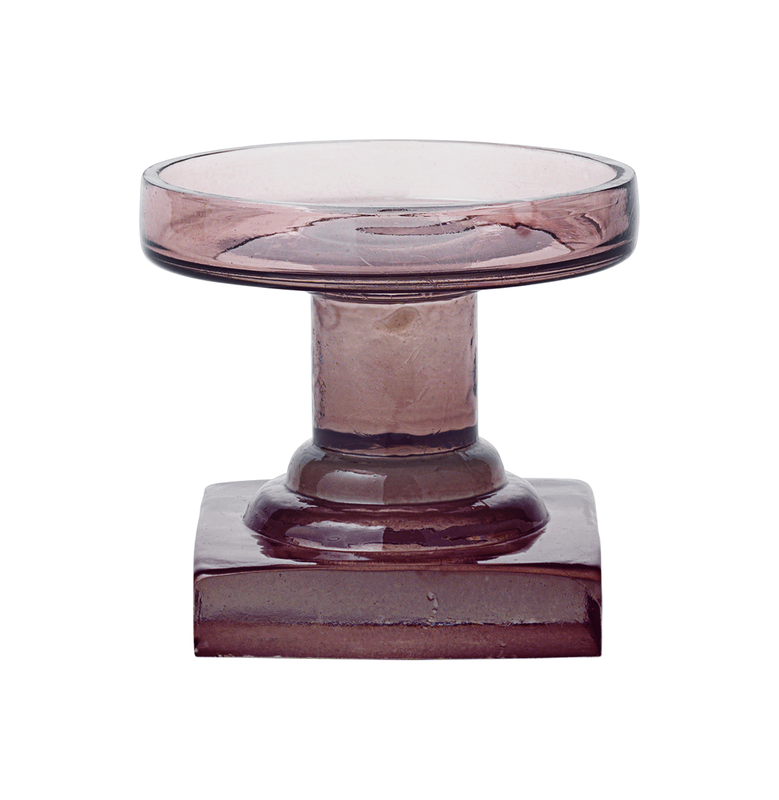 Trophy Block Glass Candle Holder