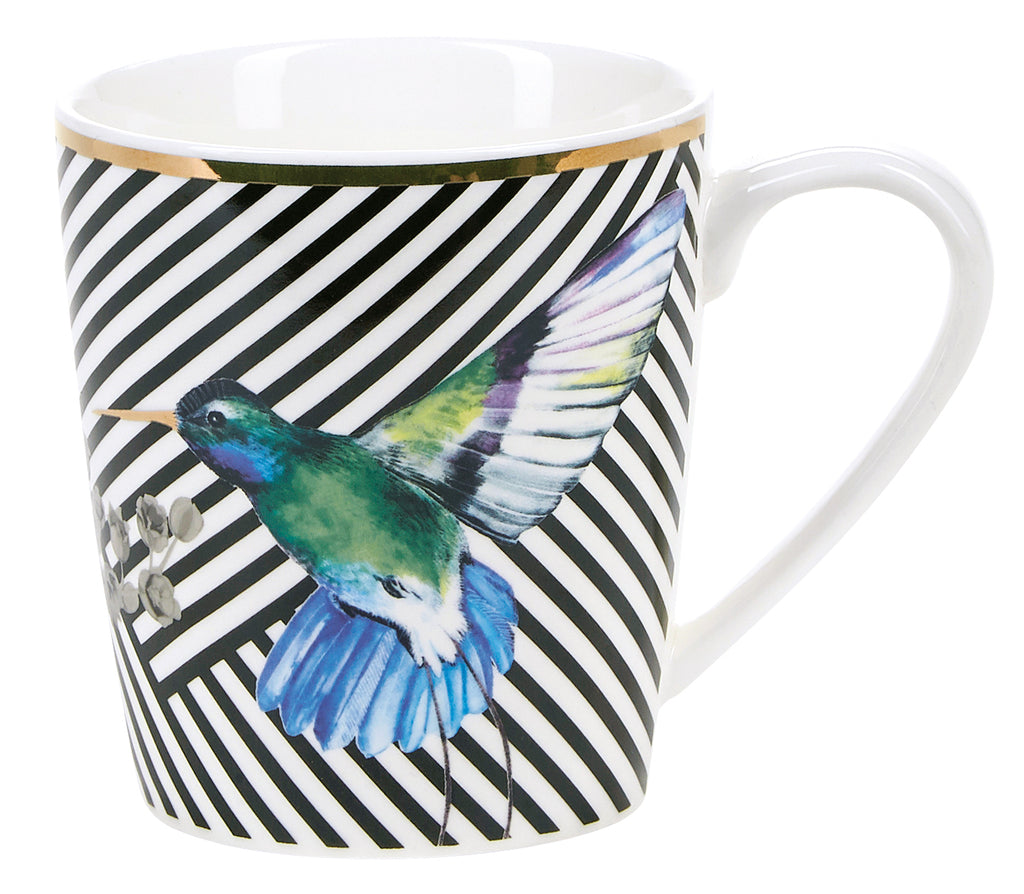 Miss Etoile Bird & Stripes Coffee Mugs