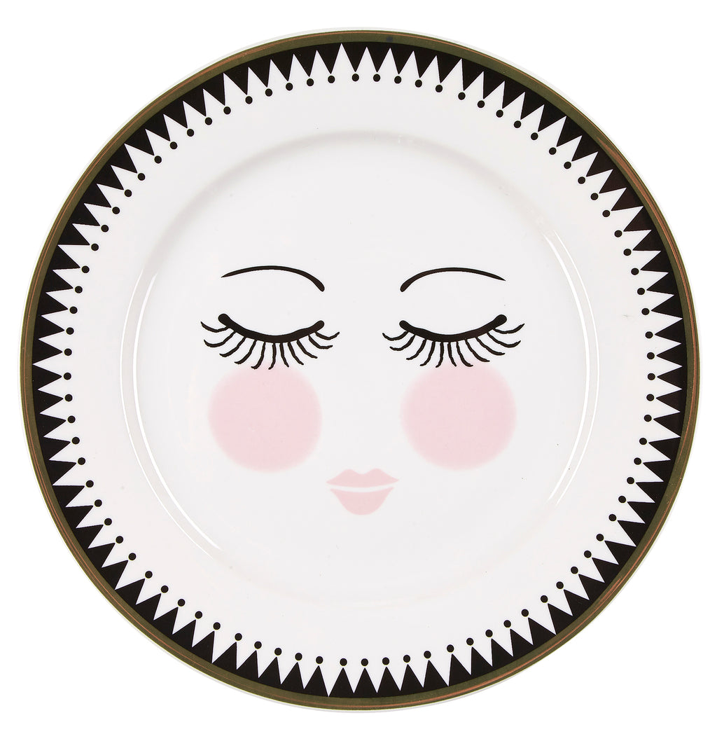 Miss Etoile Closed Eyes Icons Side Plate 19cm -