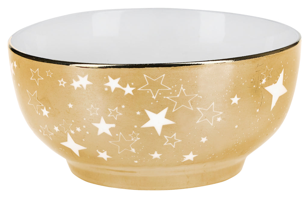 Miss Etoile Star Gold Bowls - Set of 2