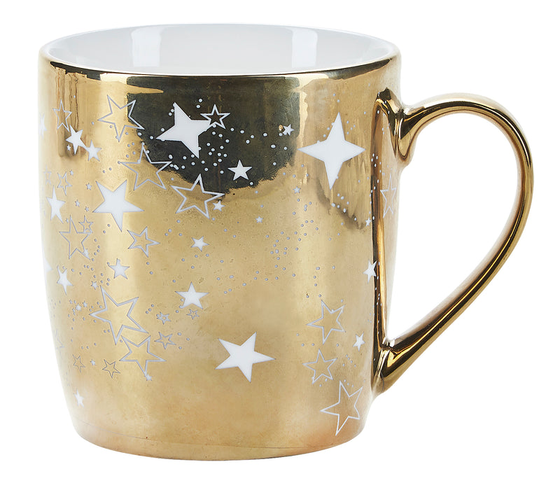 Miss Etoile Gold Coffee Mug - Set of 2