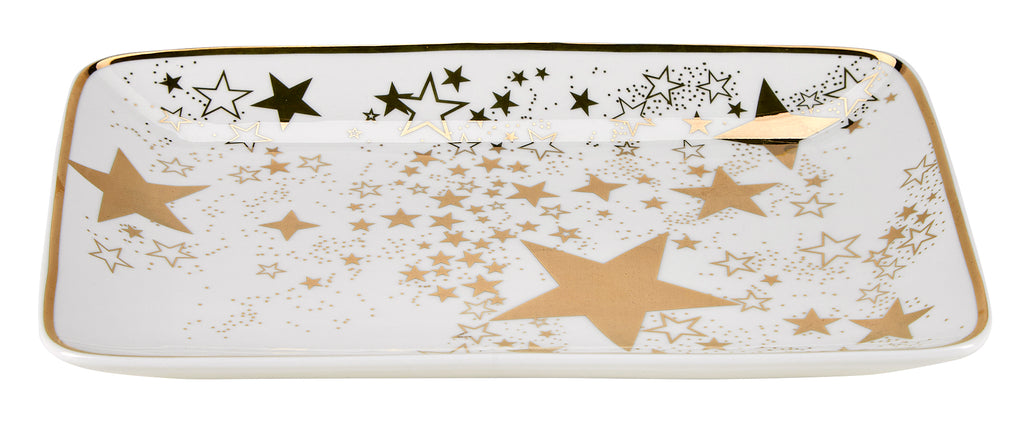 Miss Etoile Star Gold Square  Plate