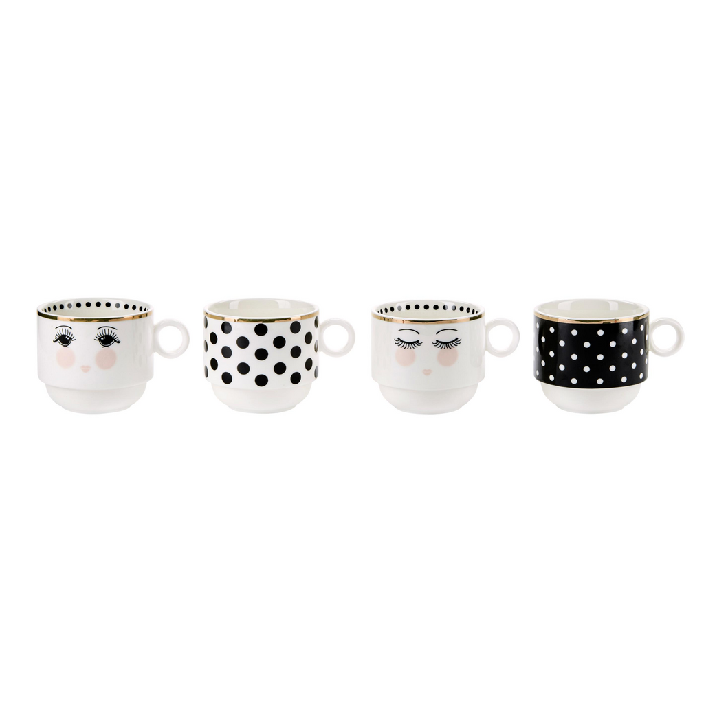 Miss Etoile Eyes and Dots Mugs - SAK Home