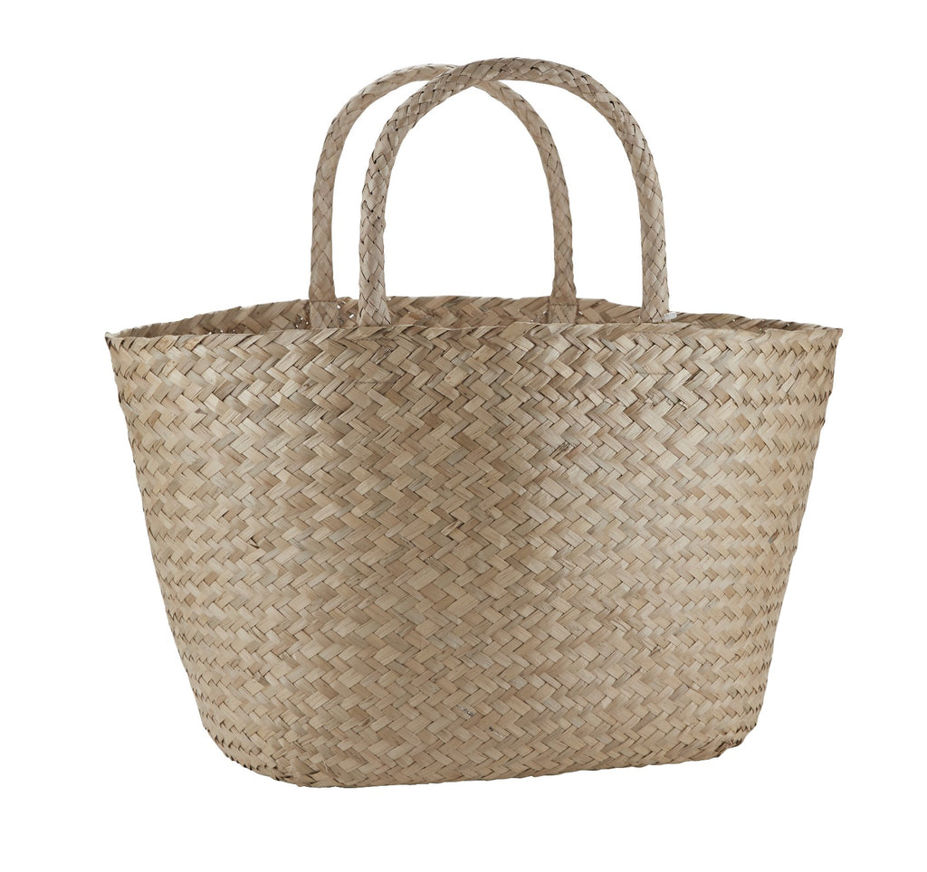 Natural Seagrass Handbag with Handles
