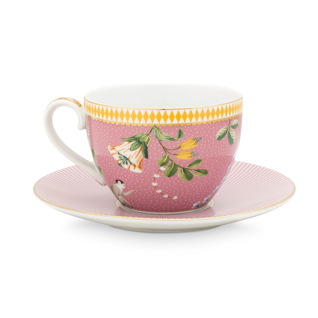Pip Studio La Majorelle Cup and Saucer 280ml- Set of 4