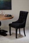 Kensington Townhouse Dining Chairs - Linen Black