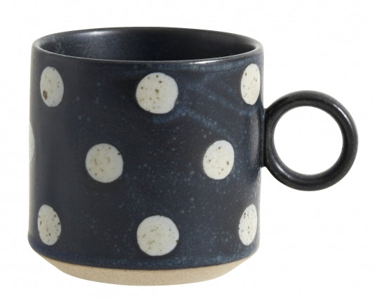 Grainy Cup - Dark Blue with Dots