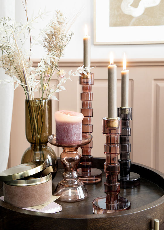 Bibi Candle Holder - Coal