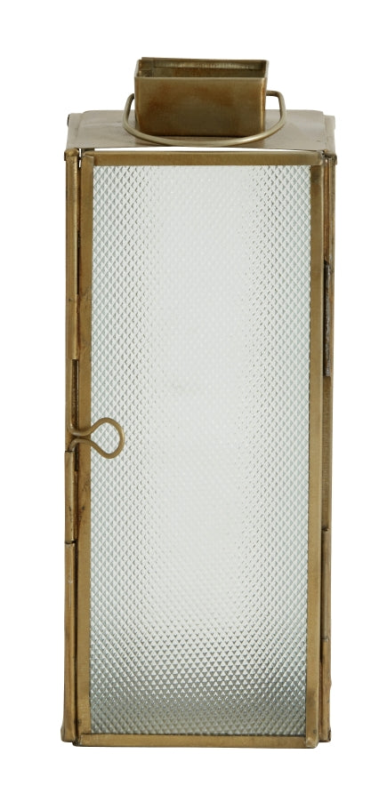 Lantern Brass Frosted - Large - SAK Home