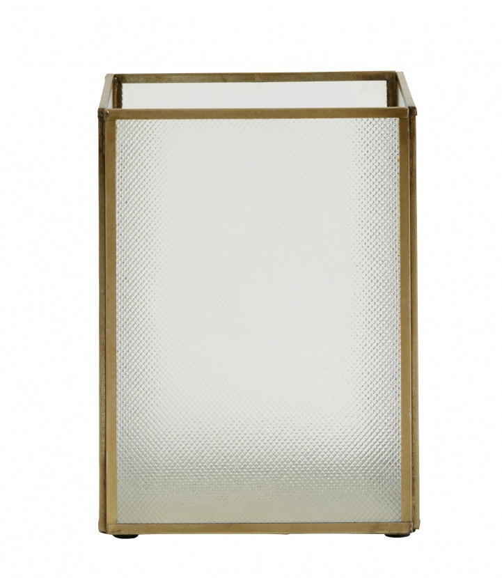 Lantern Open Frosted Brass  - Small - SAK Home