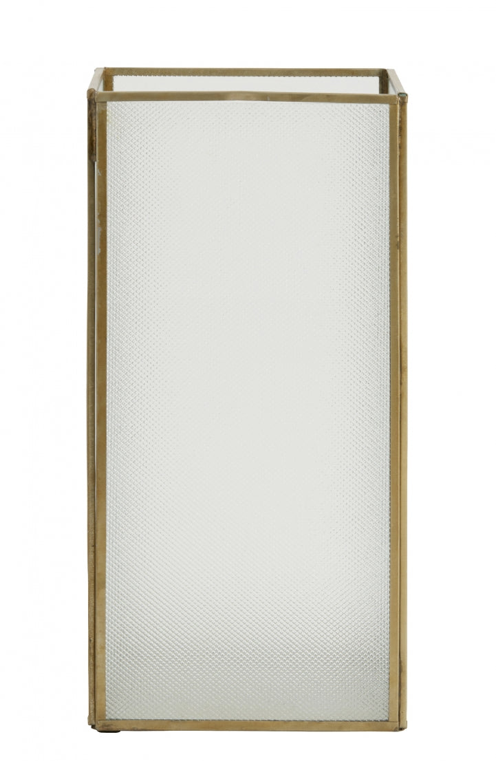 Lantern Open Frosted Brass  - Large - SAK Home