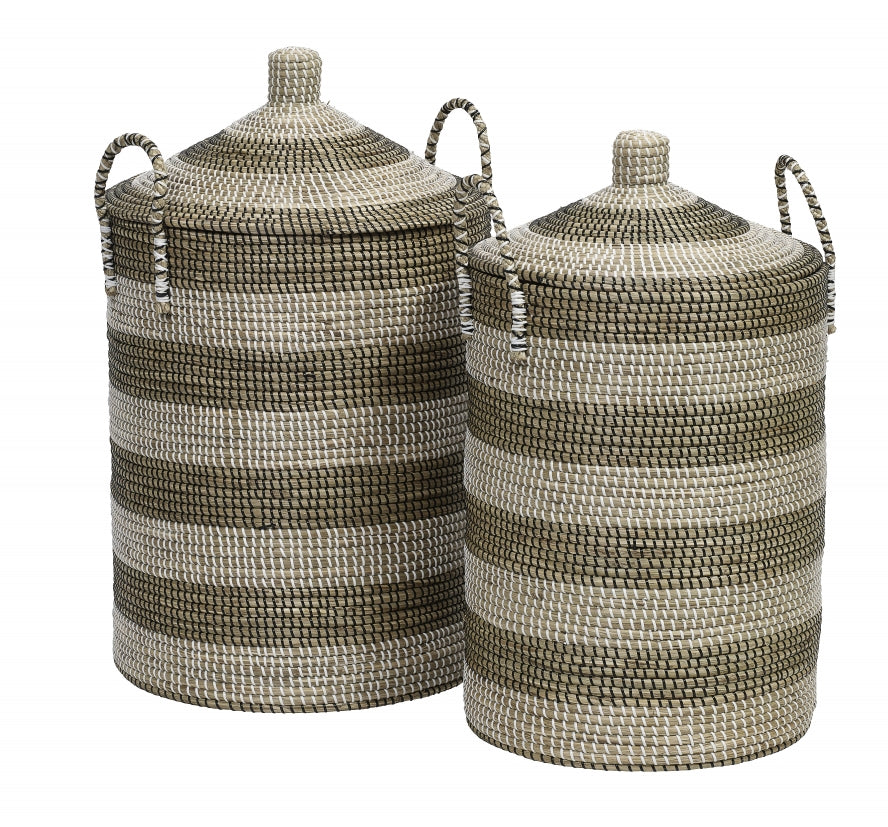 Laundry Basket,  Seagrass - SAK Home