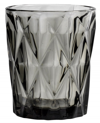 Diamond Drinking Glass Smoke Glass - SAK Home