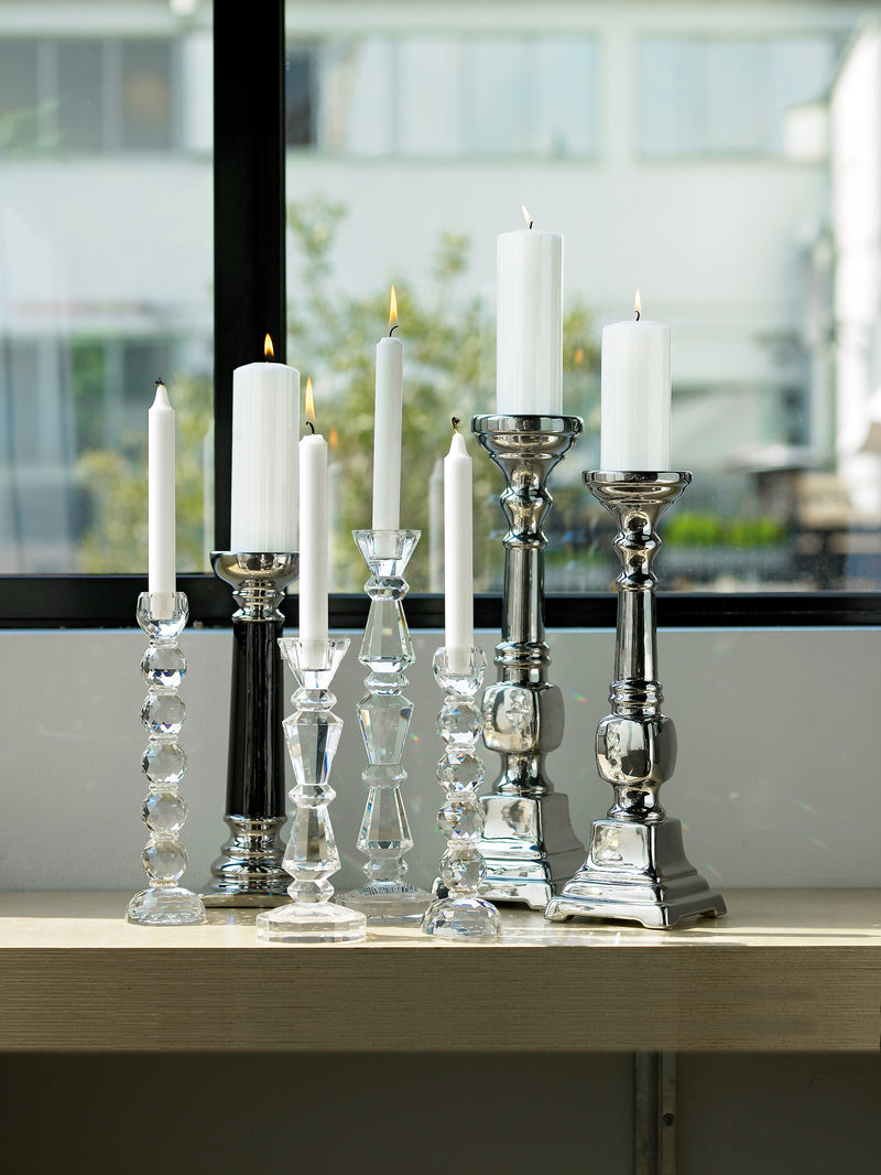 Ellsie Candlestick Crystal Glass - Small