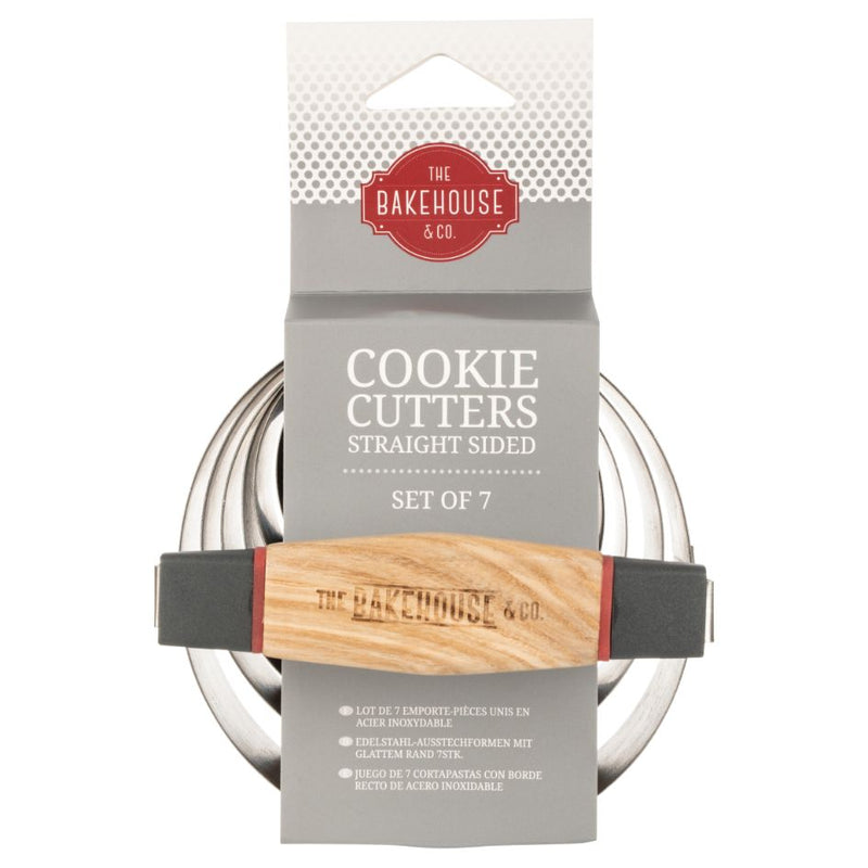 BAKEHOUSE 7 PCE S/S CRINKLE EDGE COOKIE CUTTER SET - SAK Home
