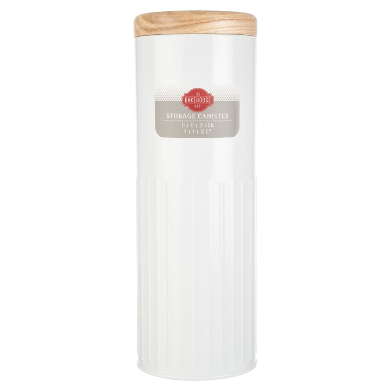 BAKEHOUSE TALL  STORAGE CANISTER - WHITE - SAK Home