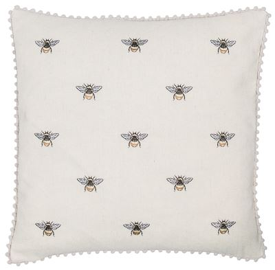 Bees and Pom Poms Cushion 45 x 45