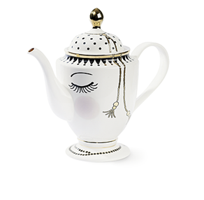 Miss Etoile closed eyes tea and coffee pot