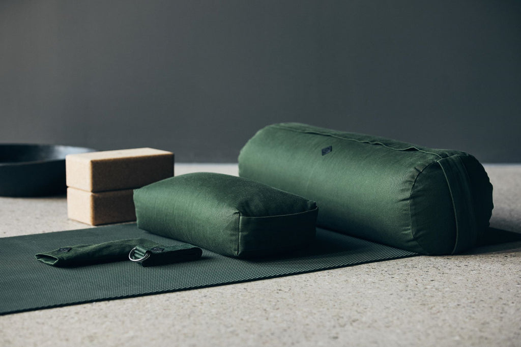 Yoga Meditation Bolster- Dark Green